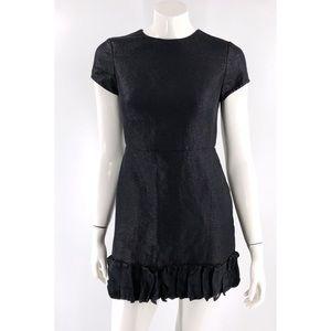 3.1 Phillip Lim Dress Size 4 Black Shimmer Cutout